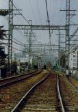 線路が歪んだ阪神線